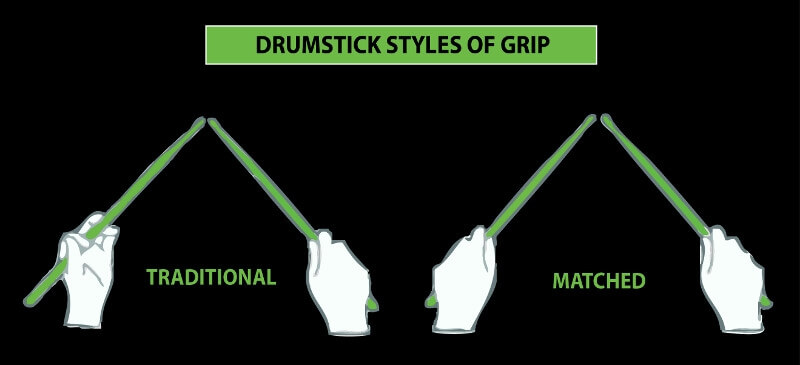 styles of drumstick grip
